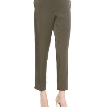 Lightweight Twill Ankle Pants,