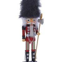"Kurt Adler | 17"" Fur Hat Nutcracker"