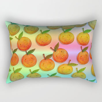 Freckle Cute Orange Rectangular Pillow by Shashira Handmaker
