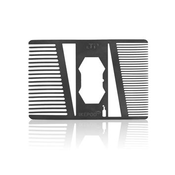 21 Titanium Alloy Beard Comb with Bottle Opener
