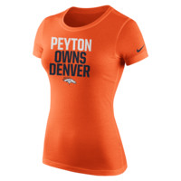 Nike Player Owns (NFL Broncos / Peyton Manning) Women's T-Shirt Size Large (Orange)