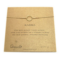 Dogeared Karma Necklace-Gold | Rain Collection