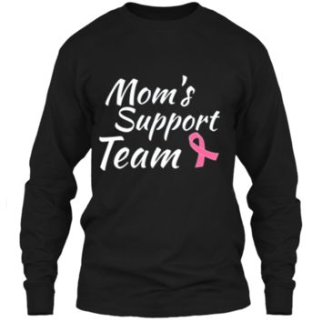 Breast Cancer Shirt Moms Support Team LS Ultra Cotton Tshirt