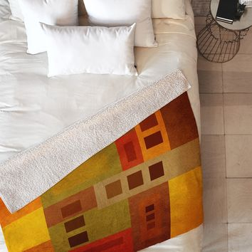 Viviana Gonzalez Textures Abstract 17 Fleece Throw Blanket