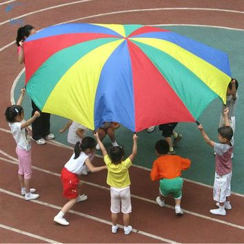 DCCKL3Z XFC Children Kids Play Parachute Rainbow Umbrella Parachute Toy Outdoor Game Exercise Sport Toy Gift