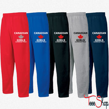 Canadian Girls Drinking Team Sweatpants