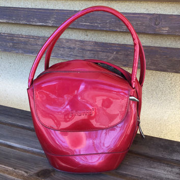 Red Purse, Red Bag, Red Handbag, Red Vinyl Bag, Red Vinyl Purse, Red Latex Purse, Red Latex Bag, Playdog Purse, Playdog Bag