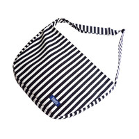 Black white striped pattern bike messenger bag 1.1 BASIC COLLECTION