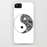Yin Yang iPhone & iPod Case by Abby Mitchell