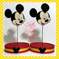 Mickey Mouse Stands - Lollipops or Cakepops Stands - Mickey Mouse Inspired Party - Mickey Mouse Party - Mickey Mouse Decoration - SET OF 2