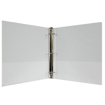 "1"" Hard Cover (PVC Free) 3-Ring Binder - White - CASE OF 24"