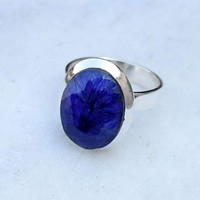 blue sapphire ring,silver ring, blue sapphire stone ring, stone ring, silver ring,  92.5 sterling silver,Silver Ring
