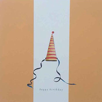Commedia Dell'Arte Design Blank Happy Birthday Card (8 ct)
