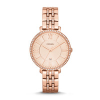 Jacqueline Three-Hand Date Stainless Steel Watch - Rose Gold-Tone