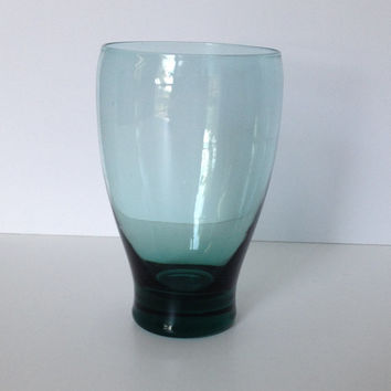 Aqua Green Glass Heavy Base Water Glass