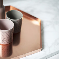 Copper hexagonal tray