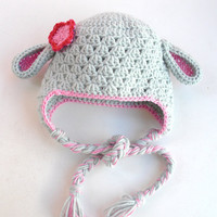 Crochet Baby Hat- Animal hat-Children Clothing Kids Hat   - children fashion -photography props-sheep-Baby girl Hat  - winter accessories
