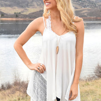 Out West Lace Tank Ivory