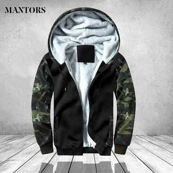Winter Camouflage Jacket Men Casual Hoodies Warm Hooded Overcoat Male Army Patckwrok Bomber Jackets Mens Clothing Thich Outwear