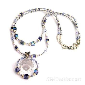 Alluring Tanzanite Crystal Prism Necklace