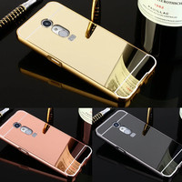 Luxury Mirror effect Hybrid case for ZTE A910 Hard Metal Aluminum Protective back cover For ZTE Blade A910 A 910 phone shell