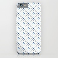 Acrylic Blue Square Dots iPhone & iPod Case by Doucette Designs