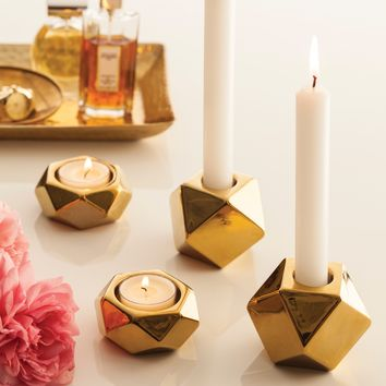 Rosanna Lumiere Taper Candle Holder Set of 2