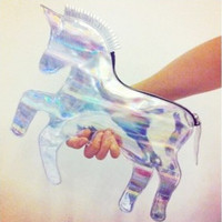 Laser Unicorn Symphony Retro Clutch