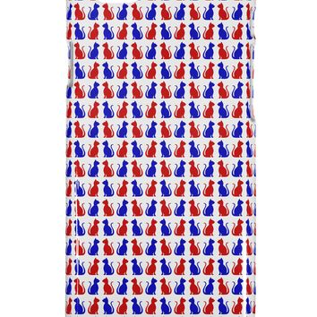 Patriotic Cat Pattern iPhone 6 Plus Plastic Case All Over Print by TooLoud