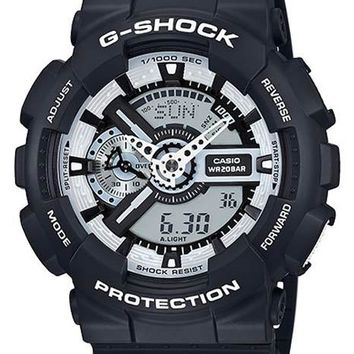 Casio G-Shock Mens Black & White - Magnetic Resistant - World Time