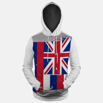 Hawaii State Flag Hoodie (Ships in 2 Weeks)