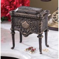 French Empire Authentic Foundry Cast Iron Box - SP20006 - Design Toscano