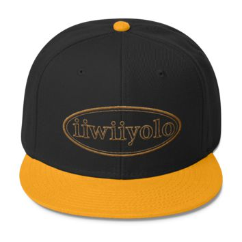 Wool Blend Snapback - Gold iiWiiyolo Oval Label