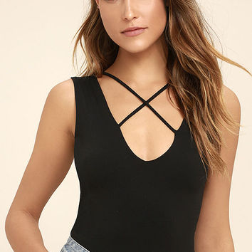 Someone Great Black Bodysuit