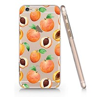 Peach Fruit Pattern Summer Transparent Plastic Phone Case for iphone 6 6s _ SUPERTRAMPshop (iphone 6)