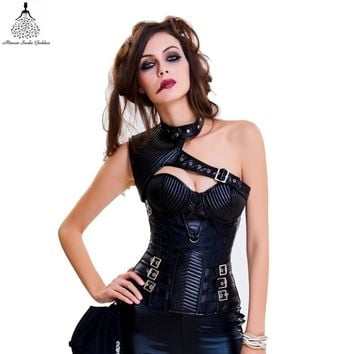 Corset steampunk and Bustiers Slimming Gothic Corsets Flower pattern Sexy Lingerie steampunk corset gothic clothing bodysuit