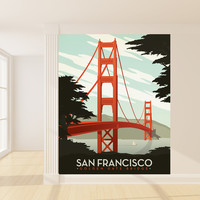 Anderson Design Group's San Francisco Mural wall decal