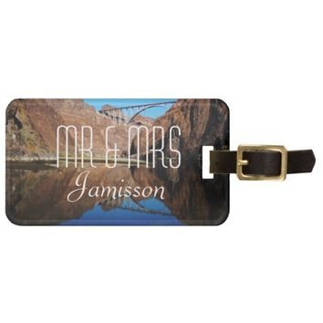 Bridge Reflection Personalized Mr and Mrs Custom Bag Tag