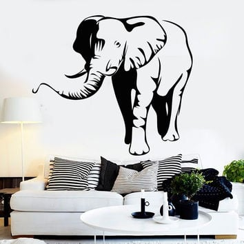 Vinyl Wall Decal Elephant African Animal Zoo Children's Room Stickers (092ig)