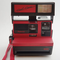 Polaroid Red & Black Cool Cam Instant Film Camera Takes Impossible Project Film!