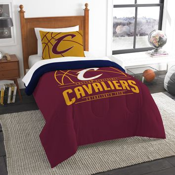 """Cavaliers OFFICIAL National Basketball Association, Bedding, """"Reverse Slam"""" Printed Twin Comforter (64""""x 86"""") & 1 Sham (24""""x 30"""") Set  by The Northwest Company"""