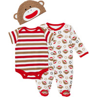 Baby Starters 3-pc. Sock Monkey Sleeper Set – Baby 3-9 Mos. | Stage Stores