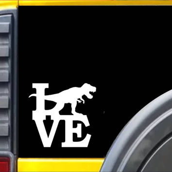 T-Rex Love Decal Dinosaur Sticker *I068*