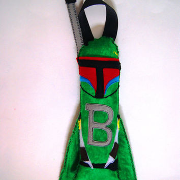 Personalized Tooth Fairy Boba Fett Star Wars Pillow by fAverittecreations on Etsy