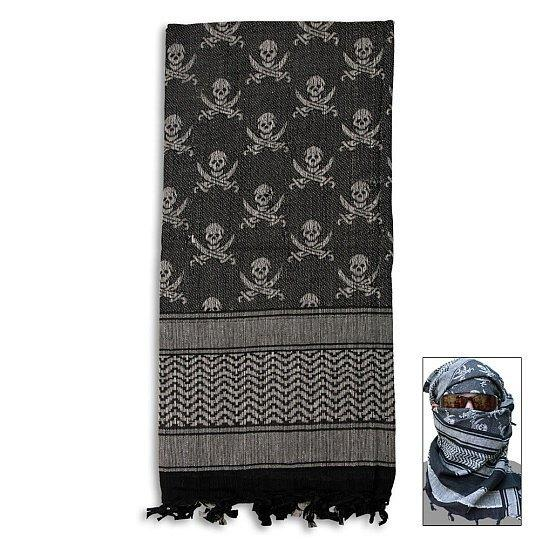 Special Forces Shemagh Tactical Scarf - Skulls & Sabers