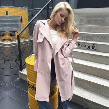 Penelope Double-Breasted Trench Coat