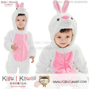New Simple White Rabbit Baby Infant Animal Kigurumi Onesuit KK873