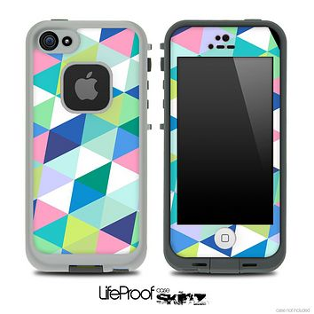 Triangular Fun Color Pattern Skin for the iPhone 5 or 4/4s LifeProof Case