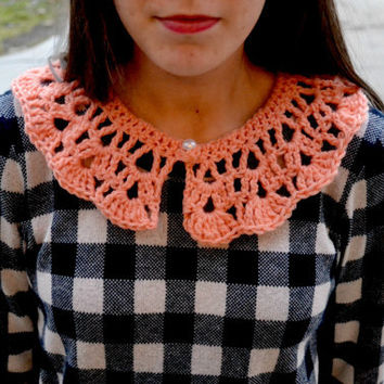 Pink Crocheted Collar