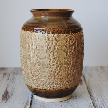 Metallic Brown Bubble Vase